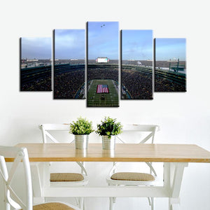 Green Bay Packers Stadium 5 Pieces Painting Canvas 2