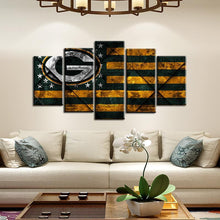 Load image into Gallery viewer, Green Bay Packers Rough Texture 5 Pieces Painting Canvas