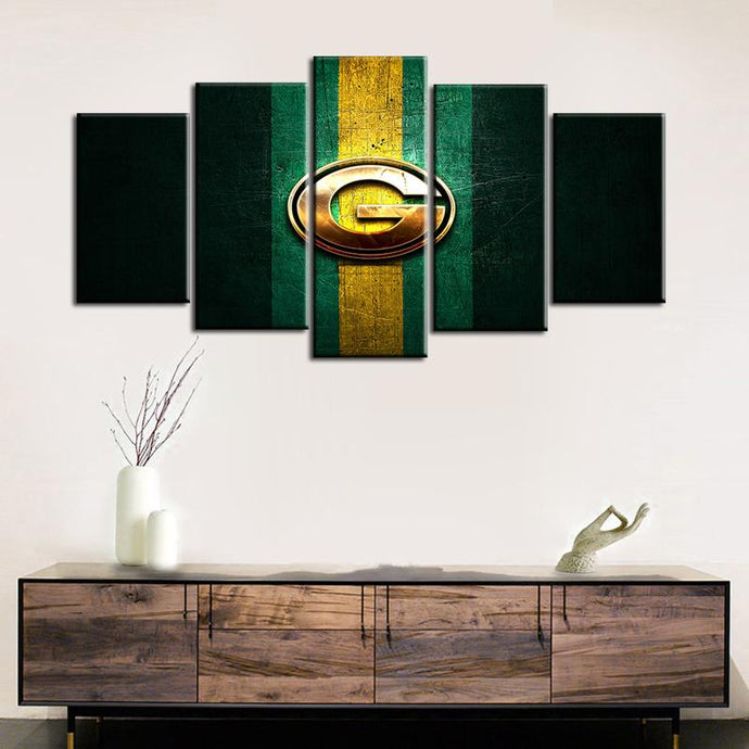 Green Bay Packers Metal Look Canvas