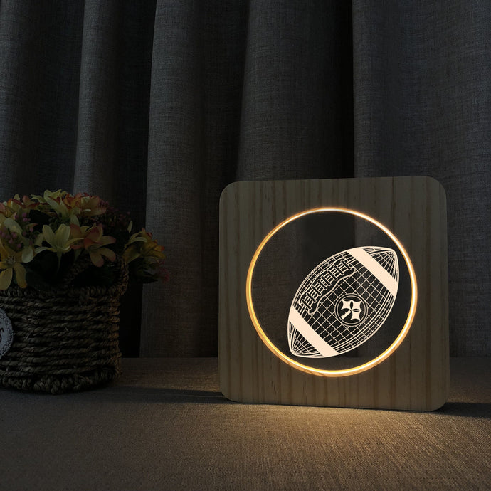 Pittsburgh Steelers 3D Wooden LED Lamp