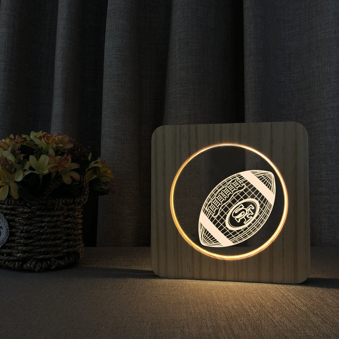 San Francisco 49ers 3D Wooden LED Lamp