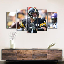 Load image into Gallery viewer, Ben Roethlisberger Pittsburgh Steelers Canvas 2