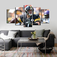 Load image into Gallery viewer, Ben Roethlisberger Pittsburgh Steelers 5 Pieces Painting Canvas