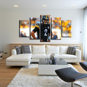 Mason Rudolph Pittsburgh Steelers 5 Pieces Painting Canvas