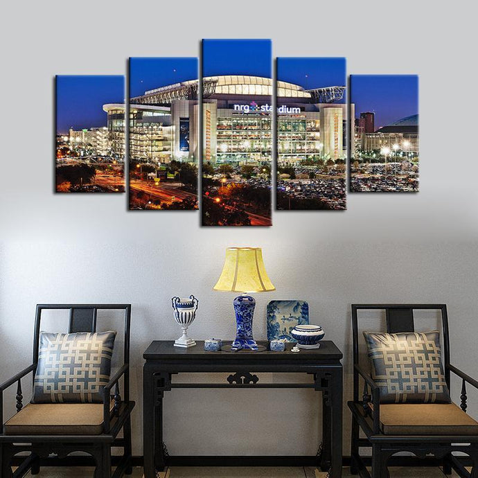Houston Texans Stadium 5 Pieces Wall Painting Canvas