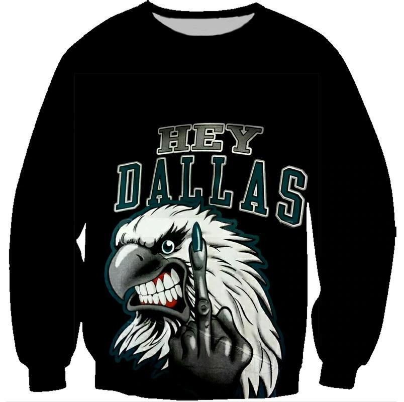 Philadelphia Eagles Hard Reaction 3D Sweatshirt