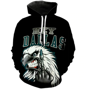 Philadelphia Eagles Hard Reaction 3D Hoodie