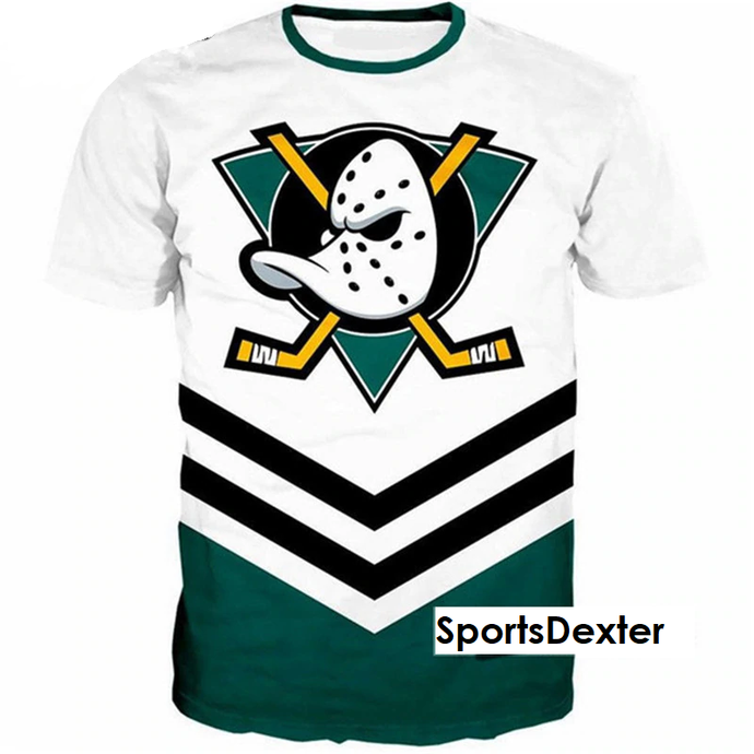 Anaheim Ducks NHL 3D Printed T-Shirts