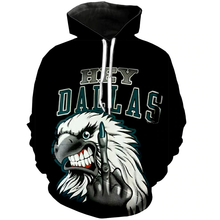 Load image into Gallery viewer, Philadelphia Eagles Hard Reaction 3D Hoodie