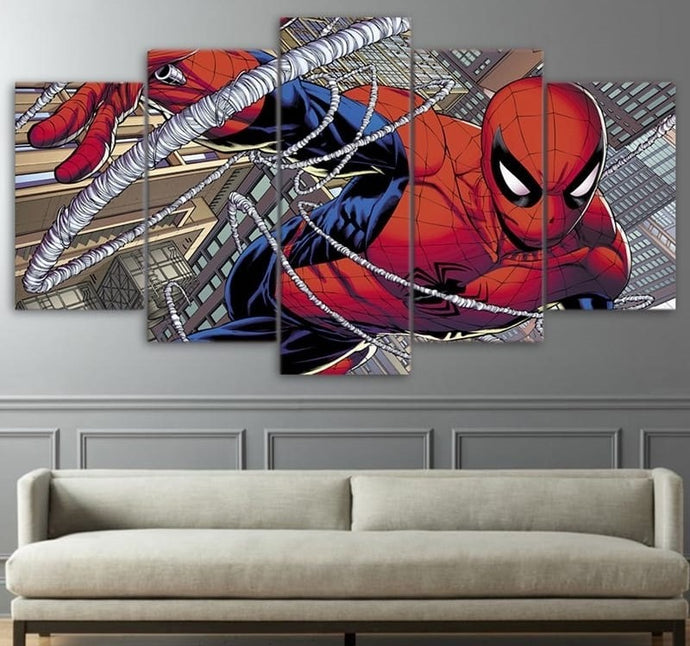 Spider Man Comics Wall Canvas