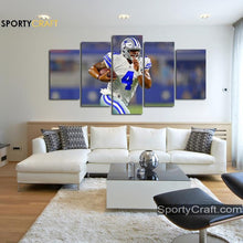 Load image into Gallery viewer, Dak Prescott Run Dallas Cowboys Canvas