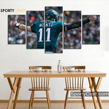Load image into Gallery viewer, Wentz Philadephia Eagle 5 Pieces Art Canvas