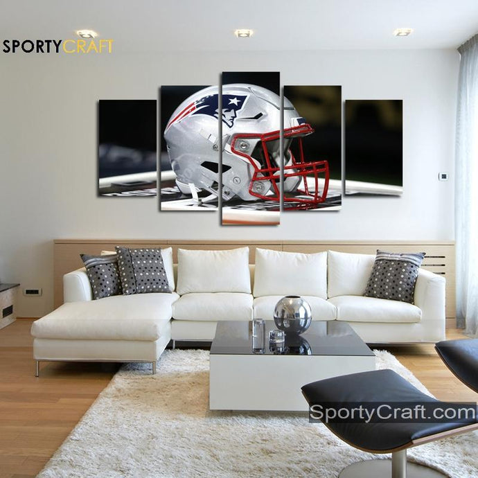 New England Patriots Helmet Canvas