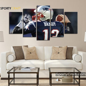 Tom Brady England Patriots Wall Art Canvas