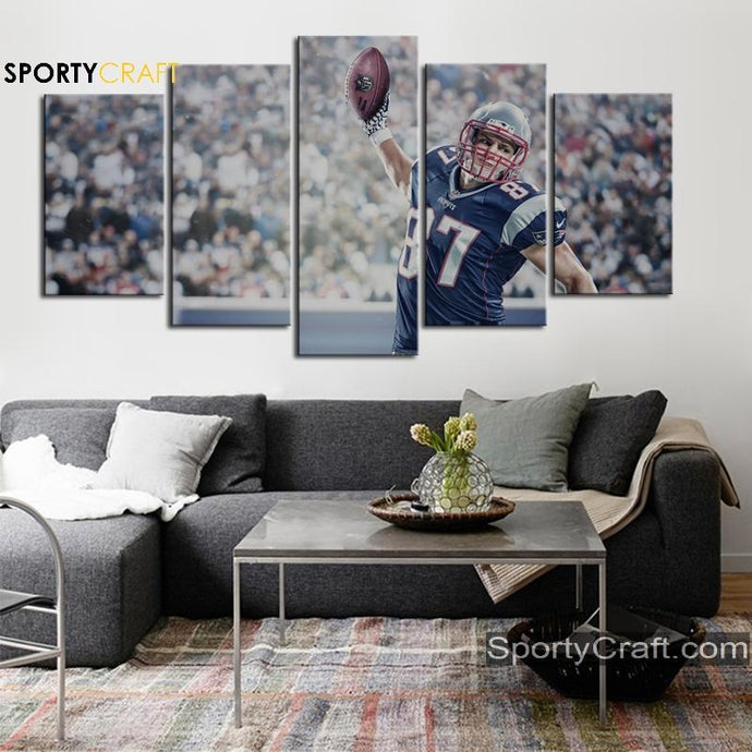 Rob Gronkowski New England Patriots Canvas