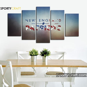 New England Patriots Flag Logo Canvas