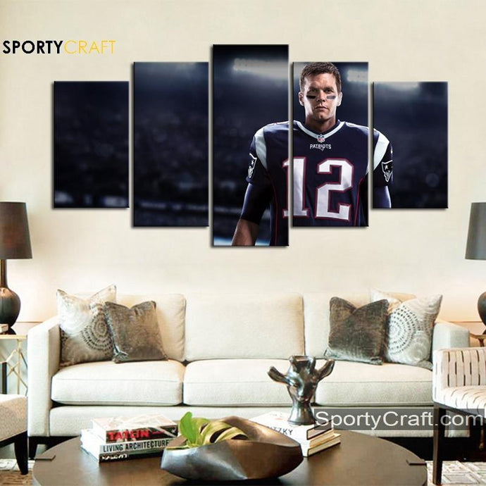 Tom Brady New England Patriots Canvas