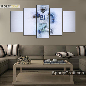 Ezekiel Elliott Dallas Cowboys Canvas