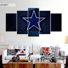 Load image into Gallery viewer, Dallas Cowboys Metal Style Canvas