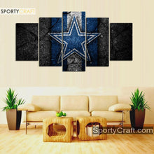 Load image into Gallery viewer, Dallas Cowboys Rock Style Canvas