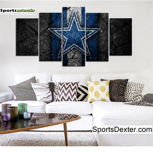 Dallas Cowboys Rock Style Canvas