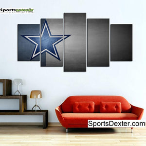 Dallas Cowboys Simple Star Canvas