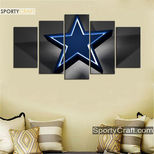 Dallas Cowboys Star Light Canvas