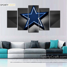 Load image into Gallery viewer, Dallas Cowboys Star Light Canvas