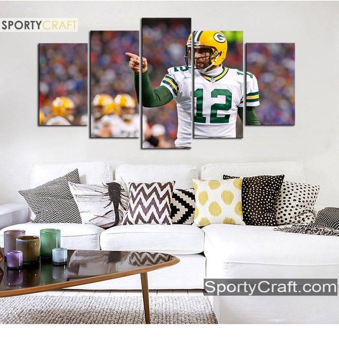 Aaron Rodgers Green Bay Packers Canvas