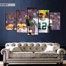 Load image into Gallery viewer, Aaron Rodgers Green Bay Packers Canvas