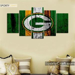 Green Bay Packers Rough Sign Canvas