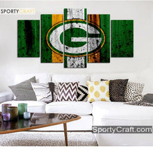 Load image into Gallery viewer, Green Bay Packers Rough Sign Canvas
