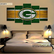 Load image into Gallery viewer, Green Bay Packers Wooden Canvas