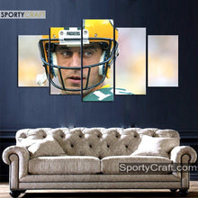 Load image into Gallery viewer, Aaron Rodgers Looks Green Bay Packers Canvas