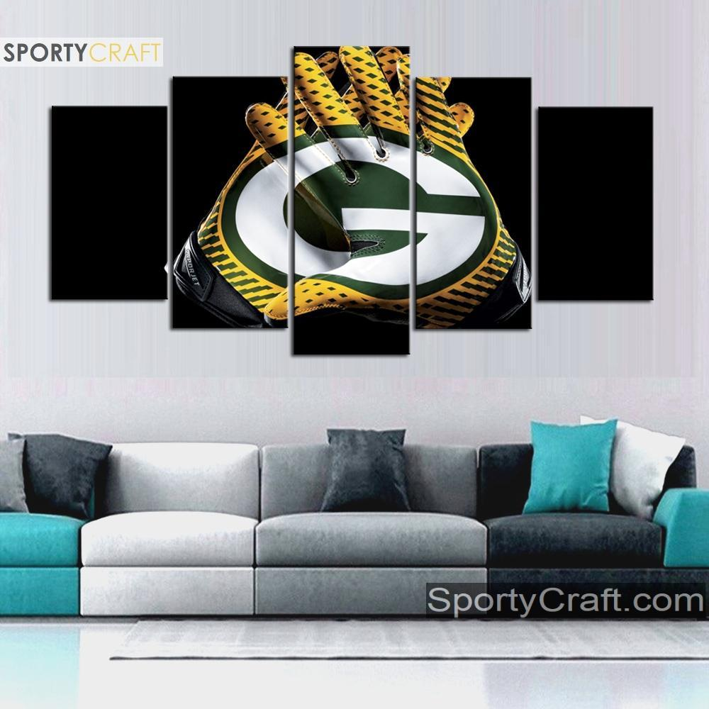 Green Bay Packers Gloves Canvas