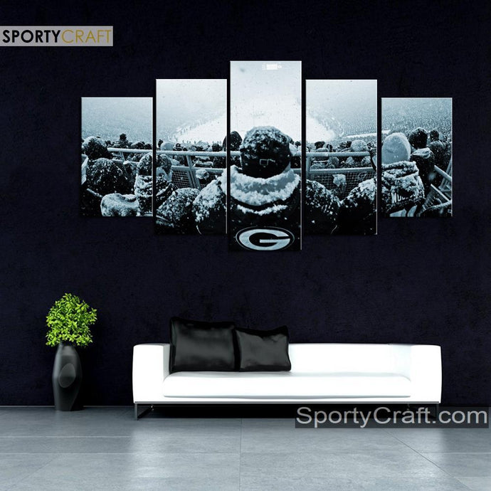 Green Bay Packers Snow Game Canvas