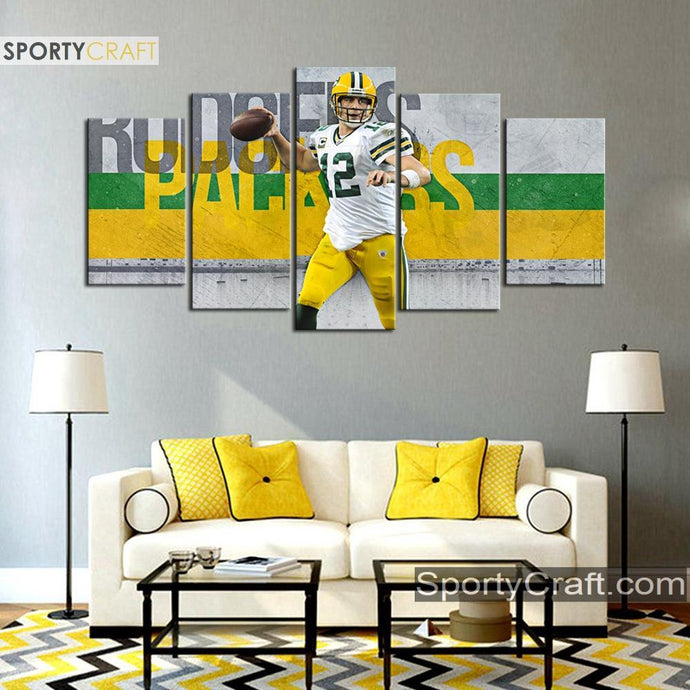 Aaron Rodgers Green Bay Packers Stylish Canvas