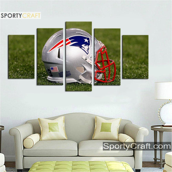 New England Patriots Helmet Art Canvas