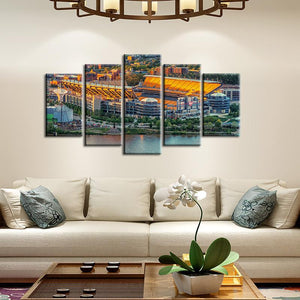 Pittsburgh Steelers Stadium 5 Pieces Painting Canvas