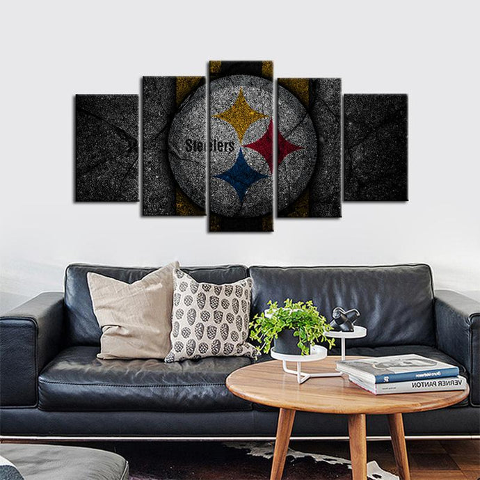Pittsburgh Steelers Rock Style 5 Pieces Painting Canvas