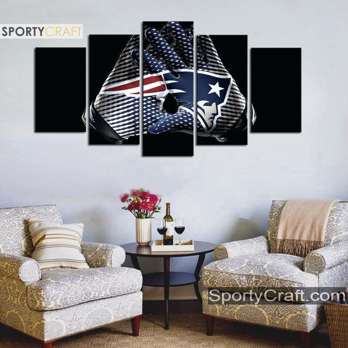 New England Patriots Gloves Canvas