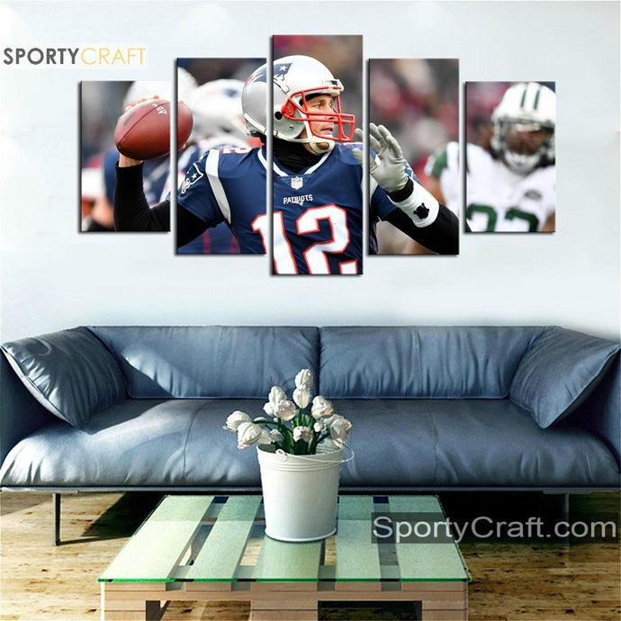 Tom Brady Throw New England Patriots Canvas