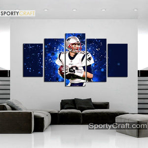 Tom Brady New England Patriots Wall Art