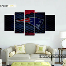 Load image into Gallery viewer, New England Patriots Metal Style Canvas