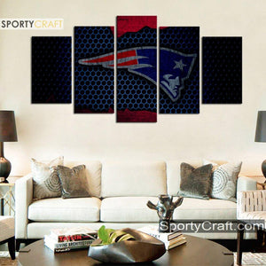 New England Patriots Metal Style Canvas