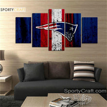 Load image into Gallery viewer, New England Patriots Rough Style Canvas