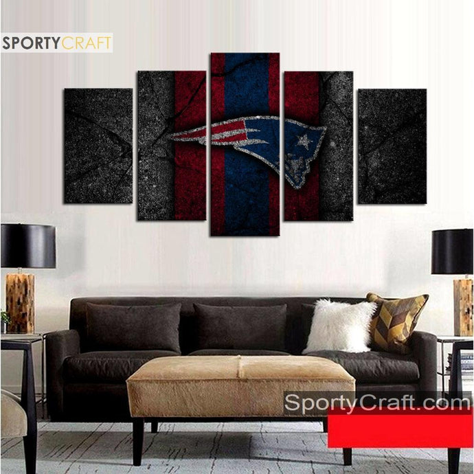 New England Patriots Rock Canvas