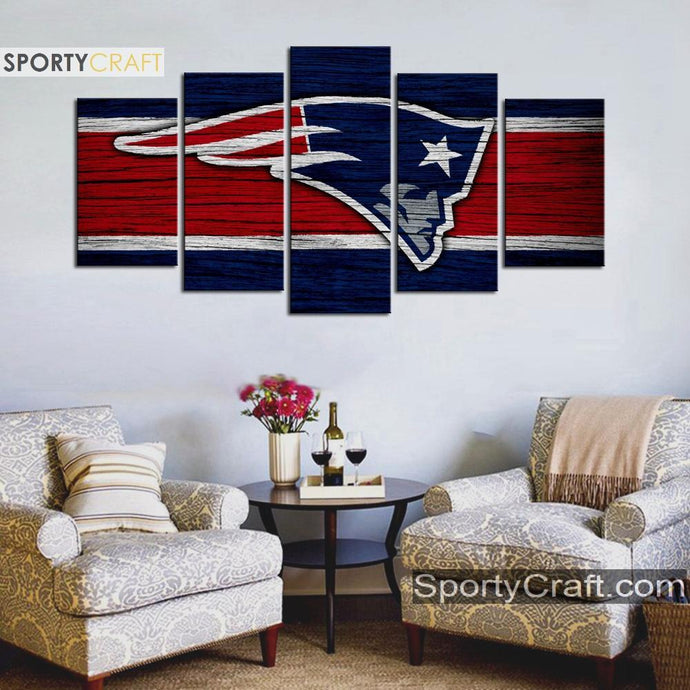 New England Patriots Wooden Canvas