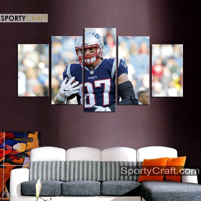 Rob Gronkowski New England Patriots Wall Art