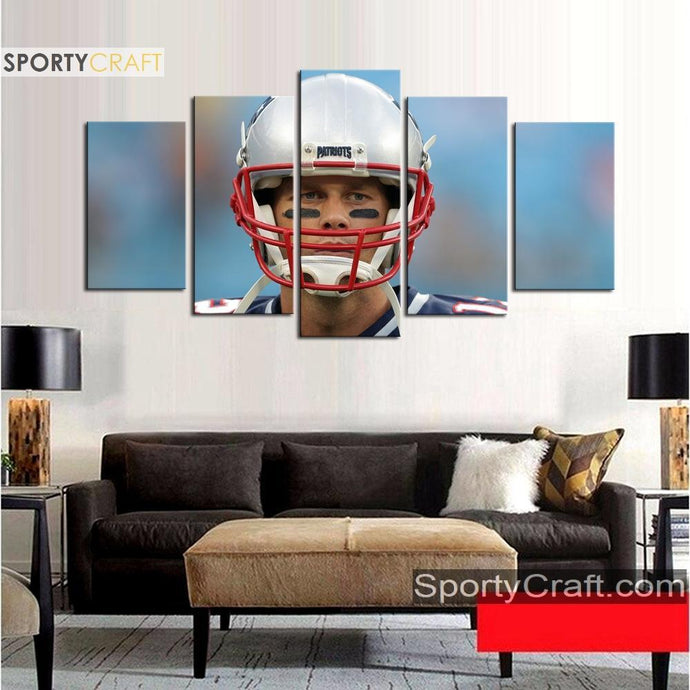 Tom Brady Look New England Patriots Canvas